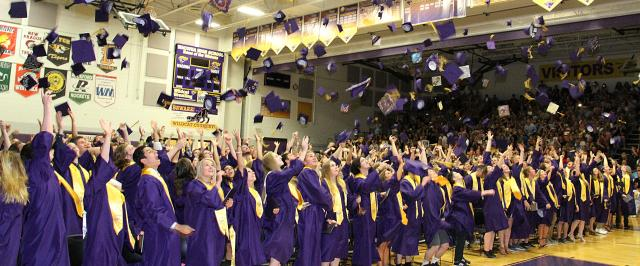 Graduation Hat Toss